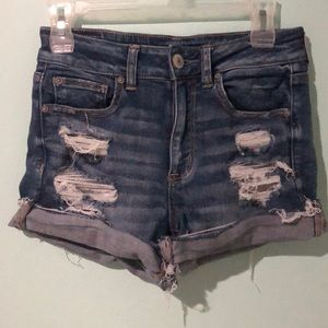 American Eagle High-Waisted Stretch Jean Shorts
